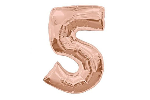 Rose Gold Number '5' Balloon