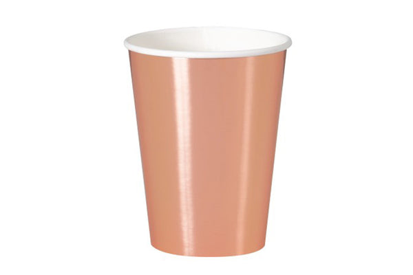 Rose Gold Foil Cups | Pop Roc Parties