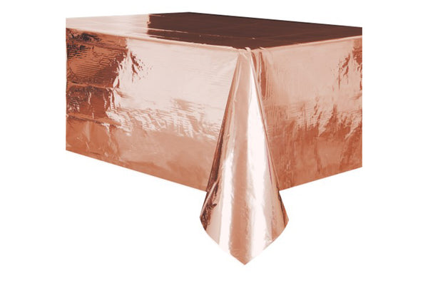 Rose Gold Foil Table Cover - Pop Roc Parties