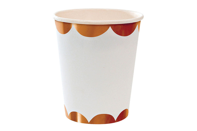 Rose Gold Paper Cups - Pop Roc Parties