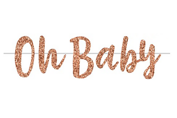 Rose Gold 'Oh Baby' Garland | Pop Roc Parties