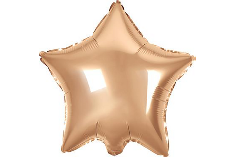 Large Rose Gold Star Foil Balloon - Pop Roc Parties