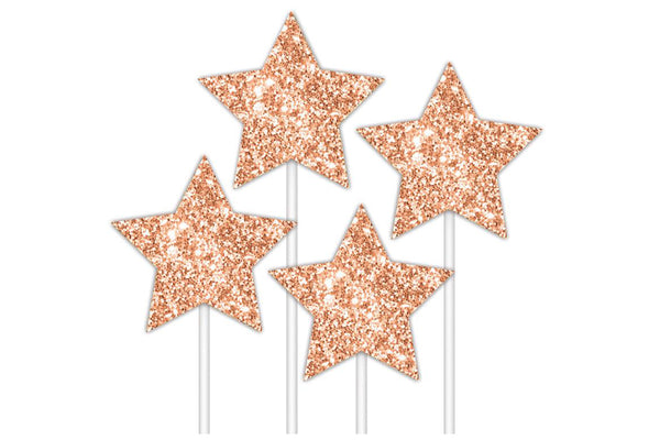 Rose Gold Stars Cake Topper | Pop Roc Parties