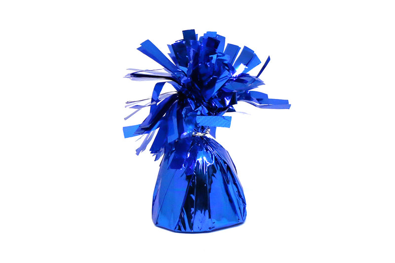 Blue Foil Tassel Balloon Weights | Pop Roc Parties
