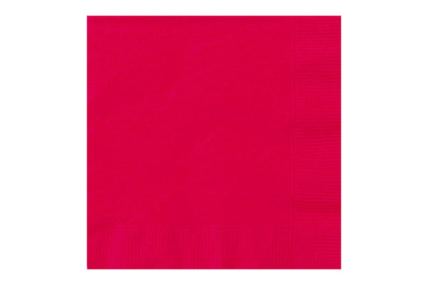 Red Beverage Paper Napkins - Pop Roc Parties