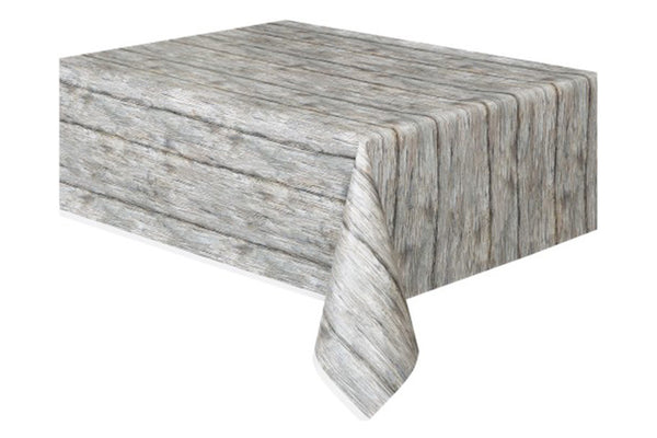Wood Grain Table Cover - Pop Roc Parties