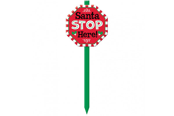 Santa Stop Here Yard Sign | Pop Roc Parties