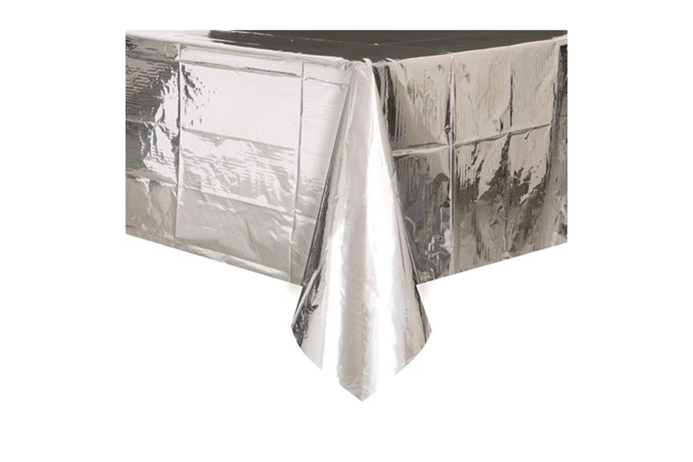 sc 1 st  Pop Roc Parties & Silver Foil Table Cover \u2013 Pop Roc Parties