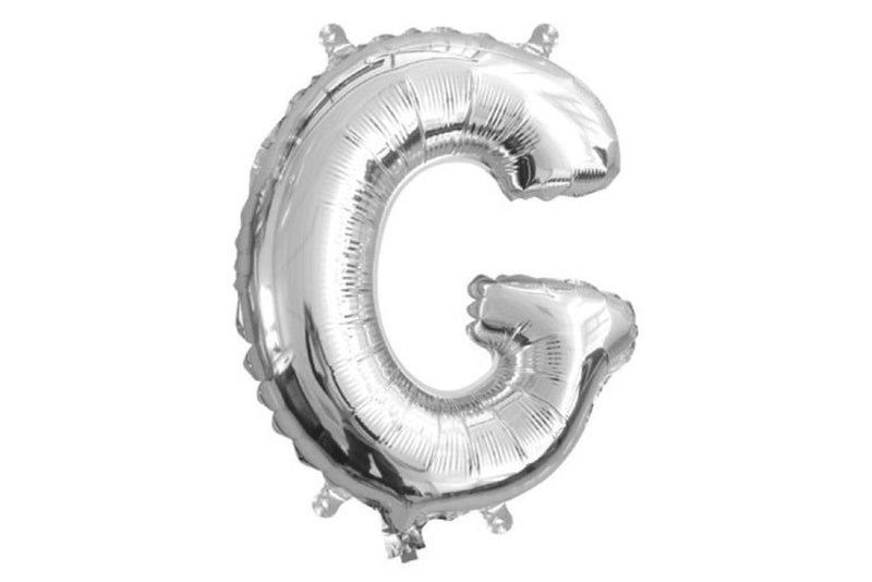 Mini Silver Foil Letter 'G' Balloon - Pop Roc Parties