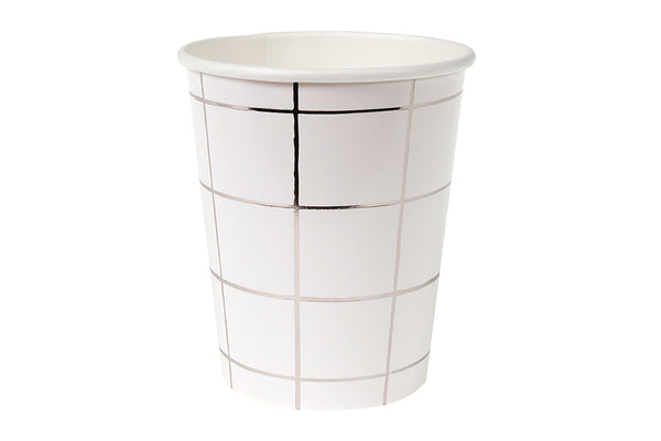 Silver Foil Grid Cups - Pop Roc Parties