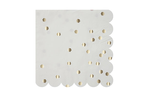 Silver Hexagon Confetti Napkins - Pop Roc Parties