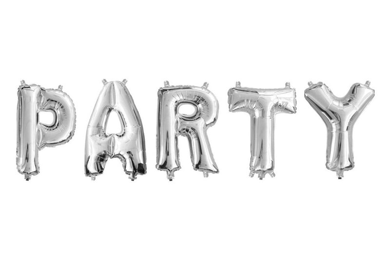 Metallic Mini Silver Foil Letter Balloons - Pop Roc Parties