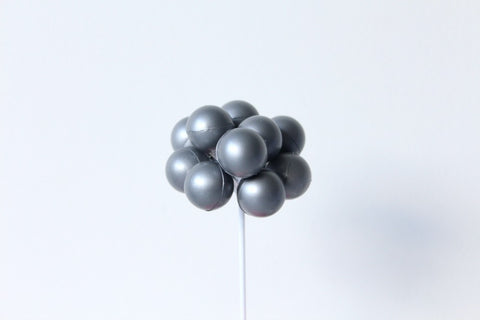 Silver Balloon Cake Topper