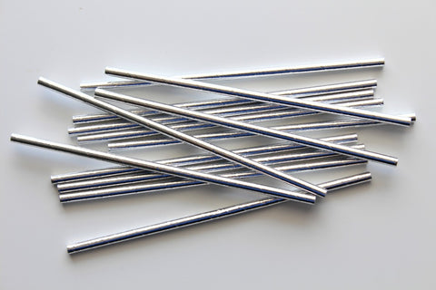 Silver Foil Paper Straws - Pop Roc Parties