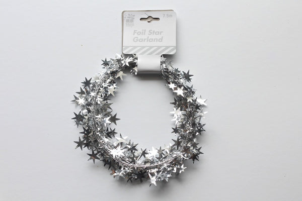 Silver Star Wire Garland - Pop Roc Parties