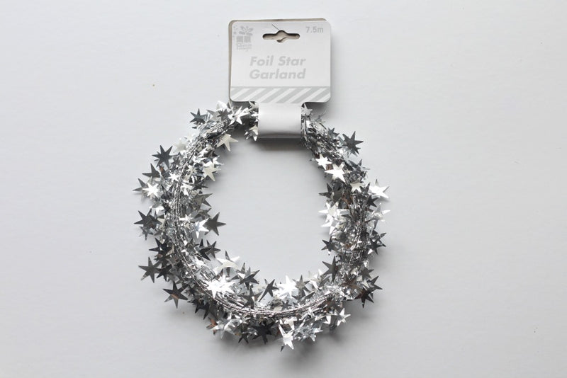 Silver Star Wire Garland | Pop Roc Parties
