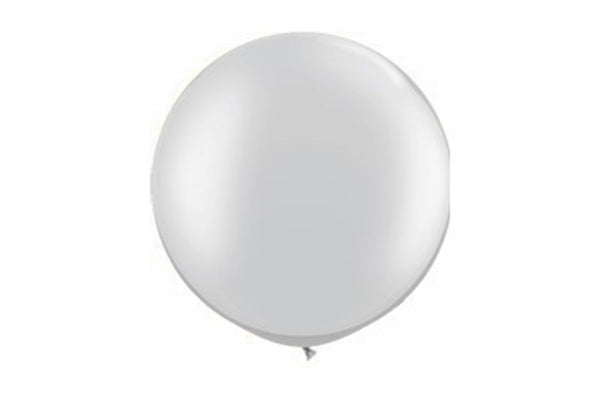 Silver Jumbo Balloon - 90cm | Pop Roc Parties
