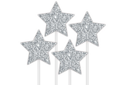 Silver Stars Cake Topper | Pop Roc Parties