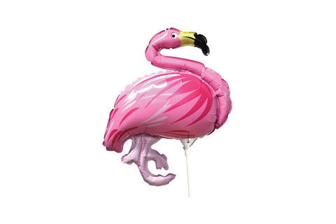 Flamingo Foil Balloon On a Stick