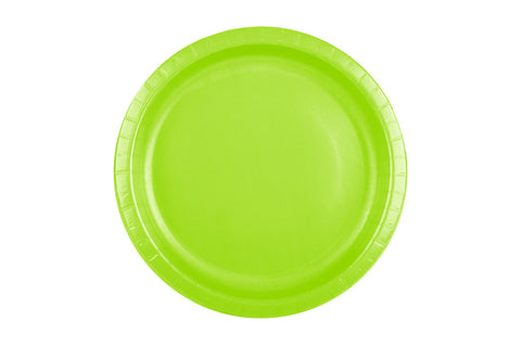 Lime Small Paper Plates