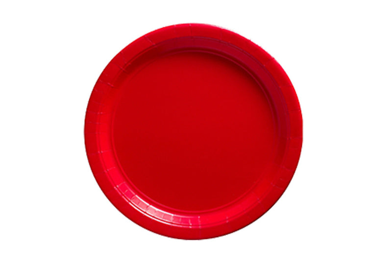 Red Small Paper Plates | Pop Roc Parties