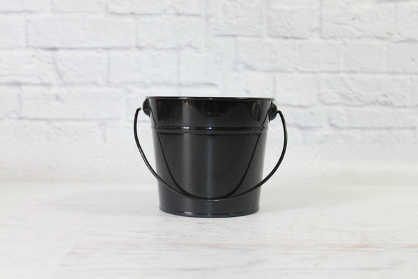 Black Small Steel Buckets | Pop Roc Parties
