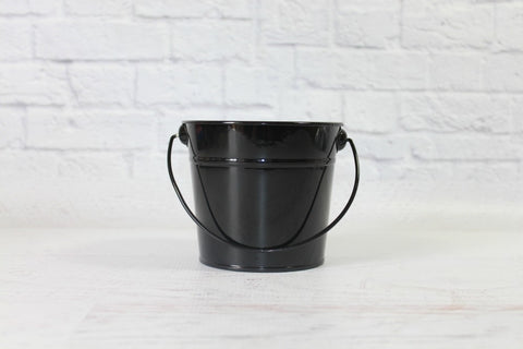 Black Small Steel Buckets