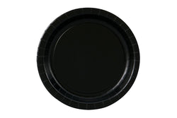 Black Small Paper Plates | Pop Roc Parties