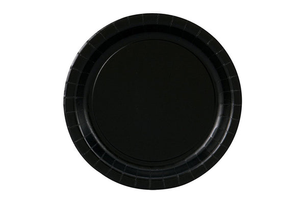 Black Small Paper Plates - Pop Roc Parties