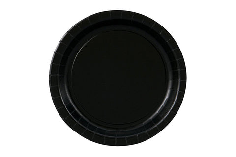 Black Small Paper Plates