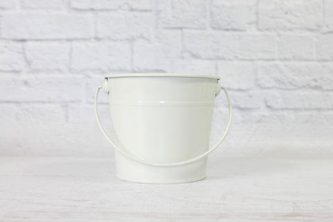 White Small Steel Buckets