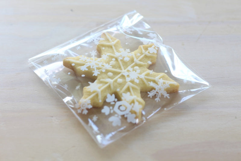 White Snowflake Cello Bags | Pop Roc Parties