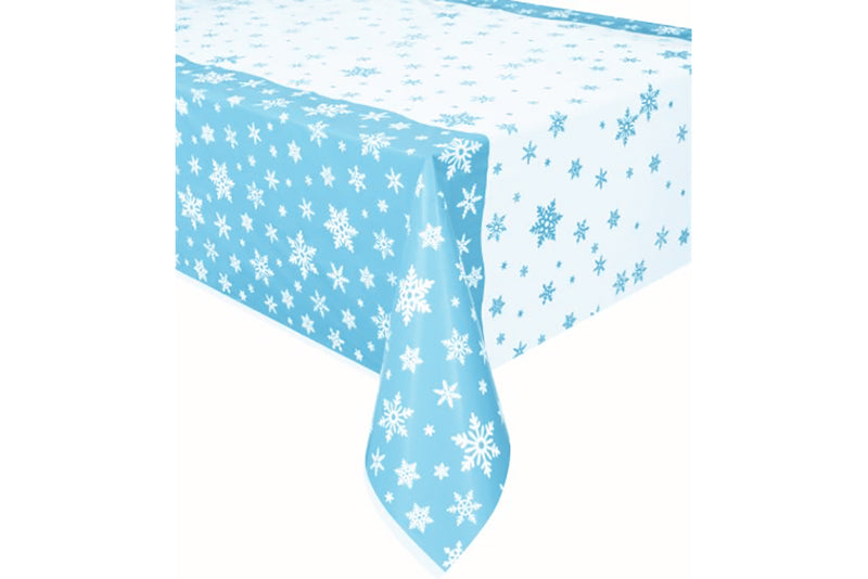 Snowflake Plastic Table Cover | Pop Roc Parties