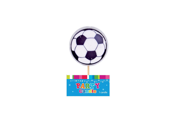 Soccer Ball Birthday Candle | Pop Roc Parties