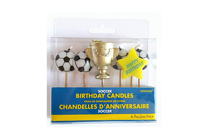 Soccer Ball Birthday Candles | Pop Roc Parties