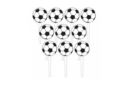 Soccer Ball Cupcake Toppers | Pop Roc Parties