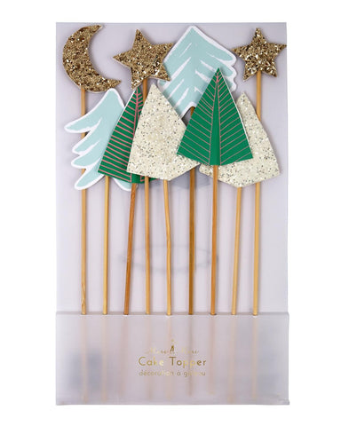Sparkly Trees Cake Toppers - Pop Roc Parties