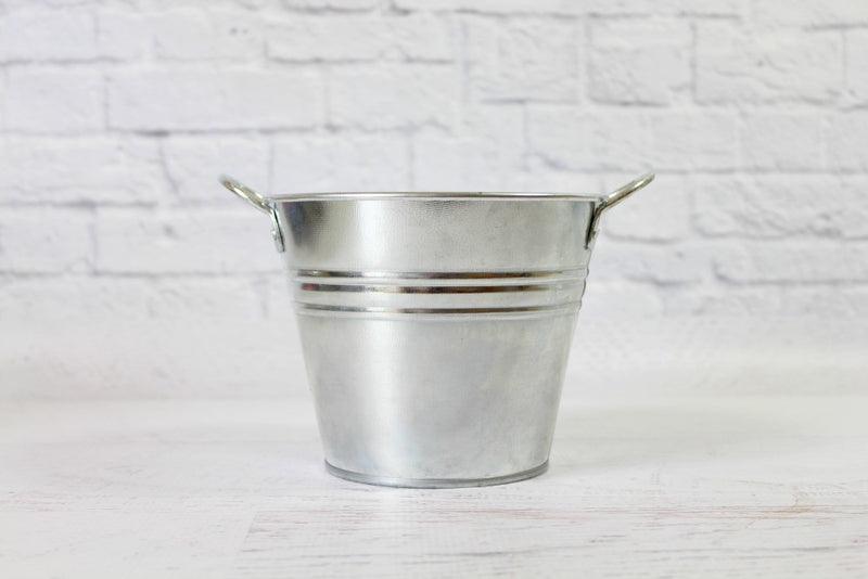 Silver Steel Pail | Pop Roc Parties