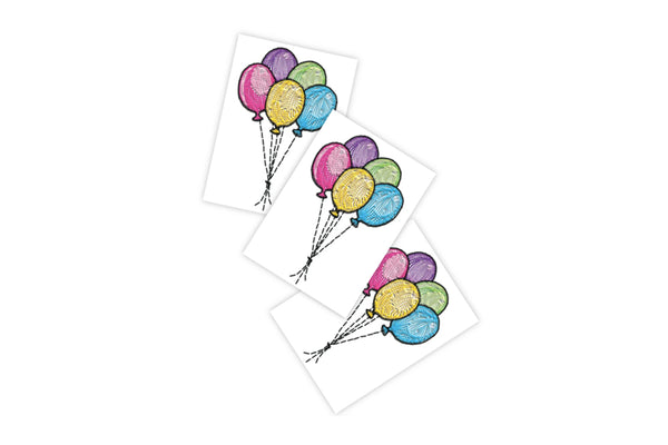 Stitched Balloons Temporary Tattoos | Pop Roc Parties