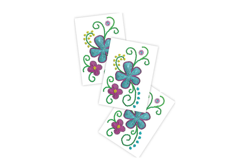 Stitched Flowers Temporary Tattoos | Pop Roc Parties
