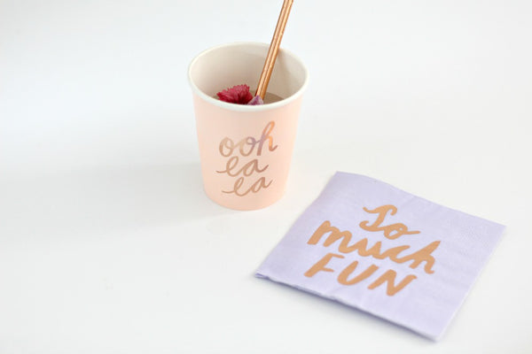 Rose Gold Foil Paper Straws - Pop Roc Parties