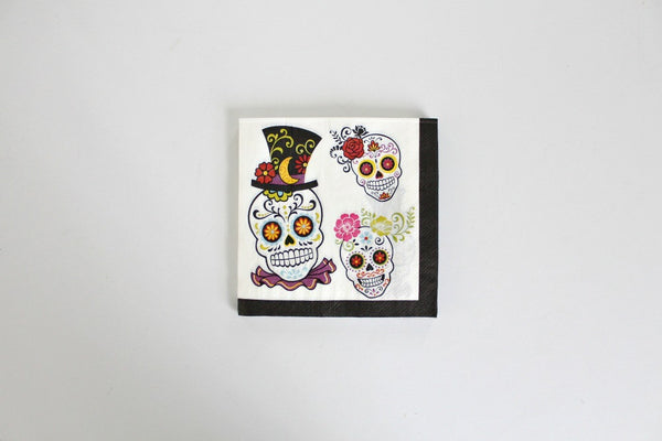 Sugar Skull Paper Napkins - Pop Roc Parties