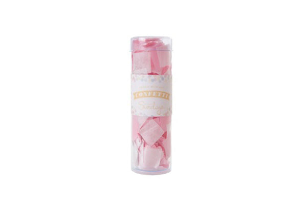Pink & White Tissue Confetti - Pop Roc Parties
