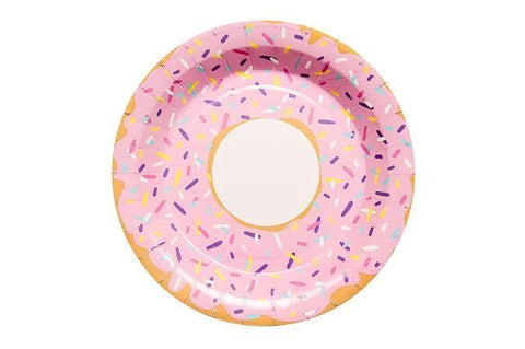 Donut Paper Plates - Pop Roc Parties