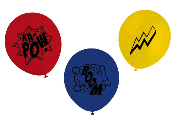 Superhero 'KA-POW' Balloon Pack | Pop Roc Parties