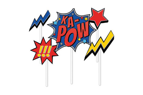 Superhero 'KA-POW' Cake Toppers | Pop Roc Parties