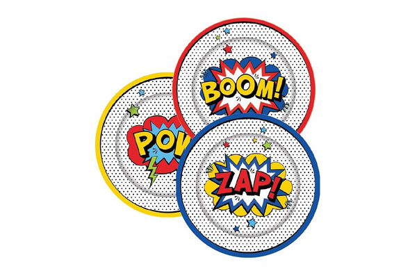 Superhero Party Plates | Pop Roc Parties