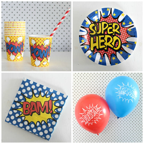 Super Hero Balloon Pack - Pop Roc Parties