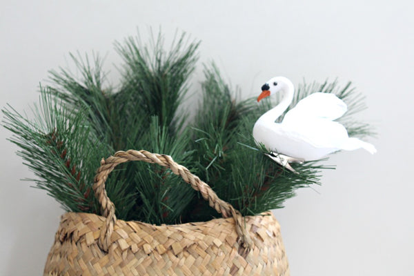 Feathered Swan Decoration