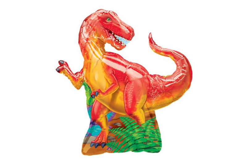 Tyrannosaurus Rex Foil Balloon - Orange | Pop Roc Parties